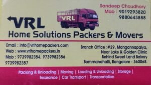 VRL Home Solutions Packers and Movers