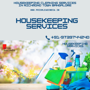 Housekeeping Cleaning Services in Richmond Town Bangalore
